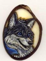 Fox-Wolf Pendant by Foxfeather248