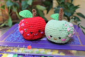 Fairy apple Amigurumi food by Amigurumifood