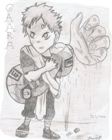 gaara pencil sketch by ConkerTSquirrel