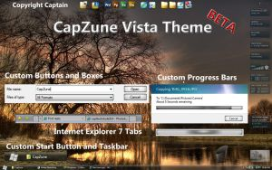 CapZune Vista Theme BETA by CaptTechDude514