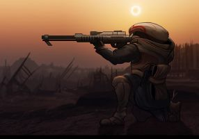 Krogan Sniper by Nissun