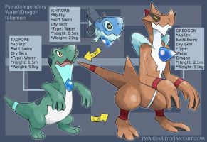 Fakemon: Water Dragons by Twarda8