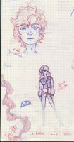 Sketches On Graph Paper by Jriiann