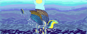 GoldNail in the Sea by Work-Of-Dragons