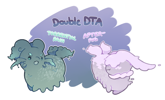 [Closed] DOUBLE DTA! Torrential Rain/After-Fog by toripng