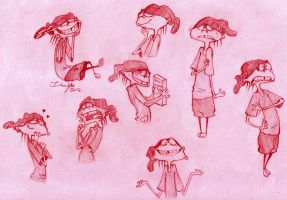 EEnD: Double D doodles by Denimecho