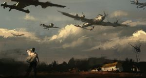 15min speedpaint Flying Army by daRoz