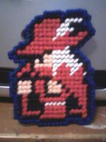 Red Mage - Plastic Canvas by naldethadawnwing