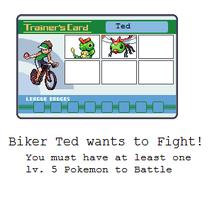Biker Ted Battle by MyPokemonStory