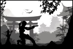 Tomb Raider Reboot - Silhouette Art by ReD8ull