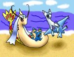 On the beach together by latias2