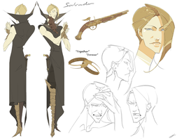 Salvador Character Sheet by WhiteFoxCub
