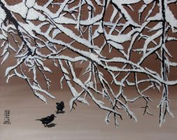 Snowy Branches by Anna-K-AREN