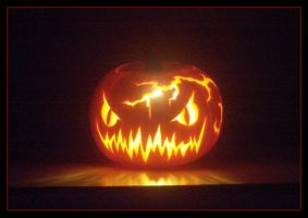 Barney the electric pumpkin by ice-biker