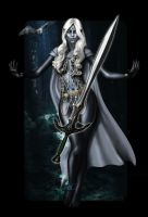 Shialyn Vhaunil, drow Sword Dancer of Eilistraee by francisrpnavarro