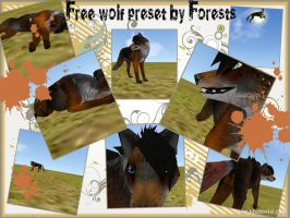 FREE wolf preset (Only has 3 legs) by Forests-FH