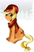 Winter Applejack by Musapan