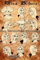 the many faces of Gina Silvera by NeoBabylon