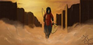 Uchiha Madara by whitesasuke