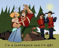 I'm a lumberjack and I'm OK by hangemhigh13