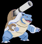 mega blastoise papercraft preview :v by javierini