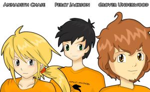 Percy Annabeth and Grover by Pergoli