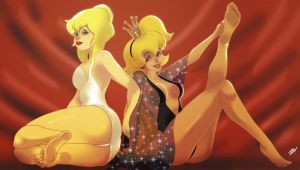 2 Toon Blondes by scamwich