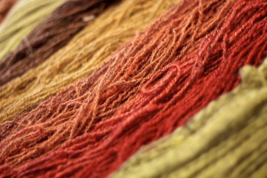 Yarn with warm colors by messo85