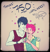 750 Watchers - Thank You!! by fairygodpiggy