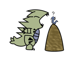 tyranitar and dratini by amuletcoin