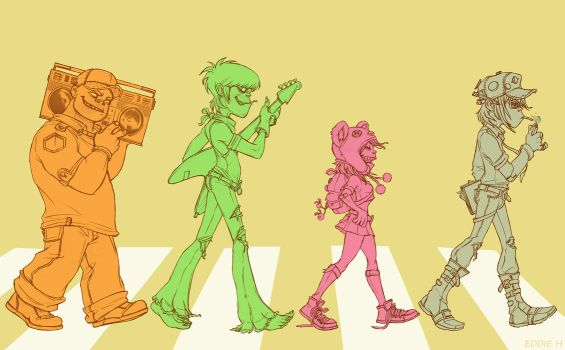 Gorillaz on Abbey Road - Lines by EddieHolly