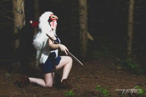 Princess Mononoke Hunting by TenderCosplay