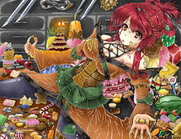 Hateyama Naeko - Festival of Sweets Colored by EmBeRNaGa