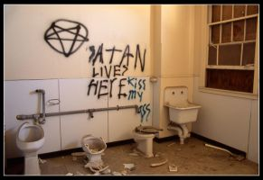 Satan Lives Here by mymamiya