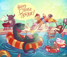 Year of the Water Snake by HanieMohd