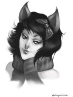 Catgirl Portrait by stringmouse
