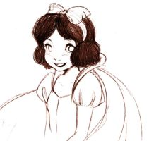 free sketch 05 Snow White by ruby-chan
