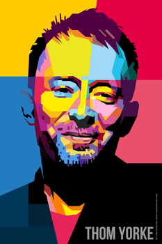 THOM YORKE SMILE WPAP A1 PNG 2835x4252 by toniagustian