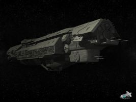 Halo 4 UNSC Infinity (wip 2) by Jamezzz92