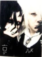 Kyo and  Ruki cosplay by kawaiimomochan2006