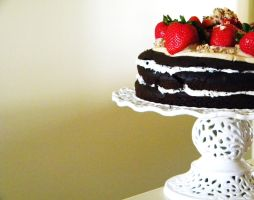 Chocolate Strawberry Torte by TantalizedBaker