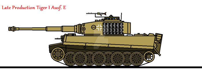 Late Production Tiger I Ausf. E by thesketchydude13