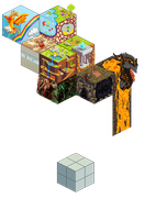 Pixel Cube Collab by TheCures
