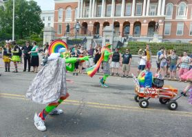 2015 Boston Pride Parade, the Green Men by Miss-Tbones