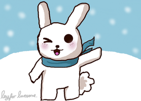 Winter Bunny by RayForAwesome