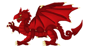 Welsh Dragon no background by ConkerTSquirrel