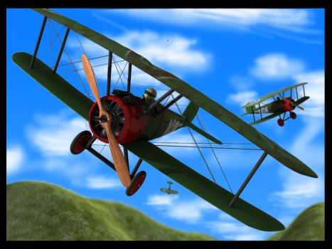 Sopwith Camel Scene - 3D by DuffMan256