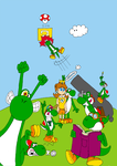 The Yoshi and Daisy Show Front by ZeFrenchM