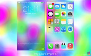 PoPcolors iPhone 5 by iBidule