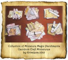 Miniature Magic Parchment Sets by grimdeva
